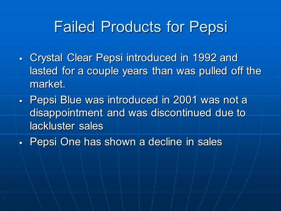 why was pepsi blue discontinued