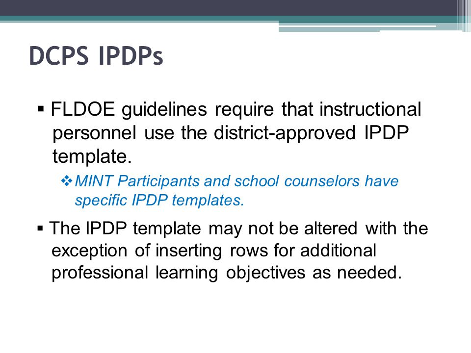 Individual Professional Development Plan Ppt Video Online