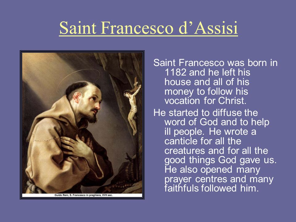 Saint Francesco d'Assisi