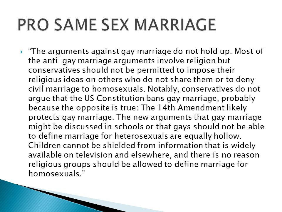 Anti homosexuality arguments