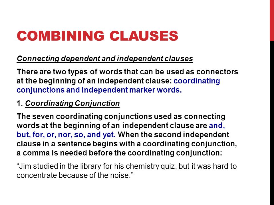 Combining clauses