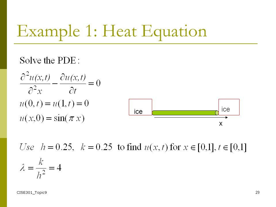 CISE301: Numerical Methods Topic 9 Partial Differential