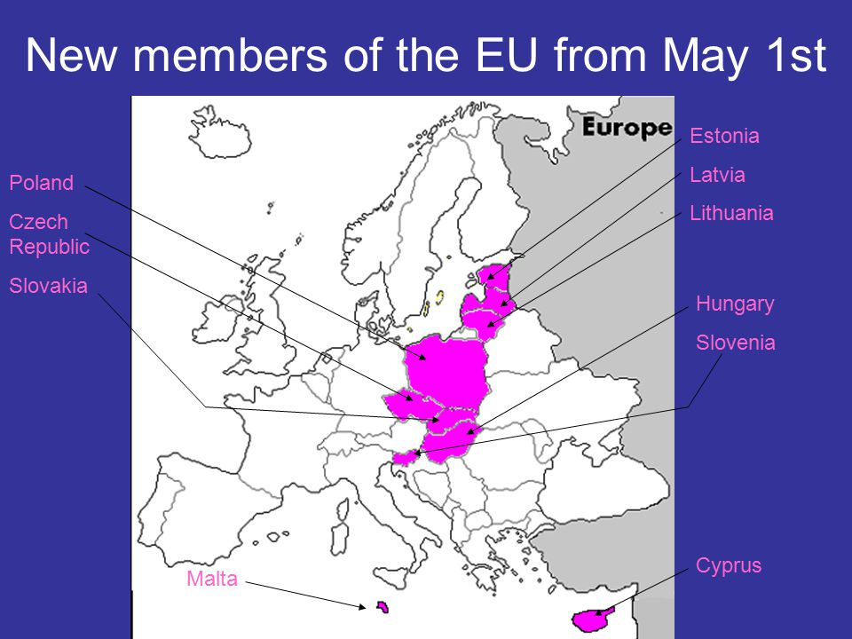 New members of the EU from May 1st