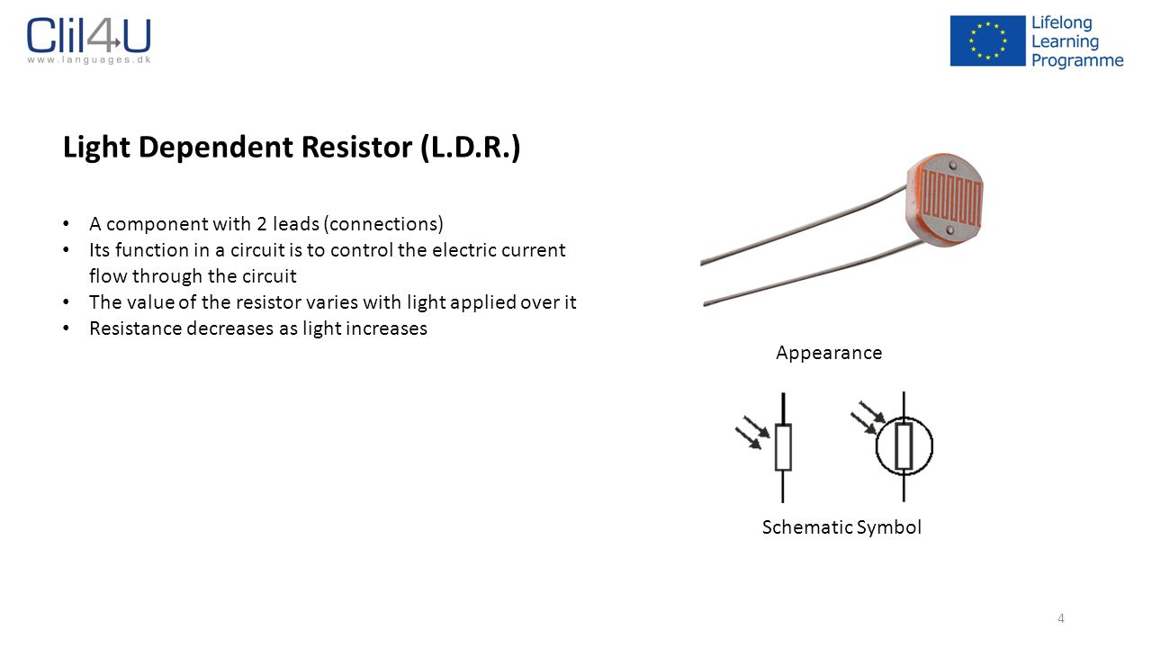 Electronic Components Ppt Download Resistor That Allows You To Control And Vary The Resistance It Light Dependent Ldr