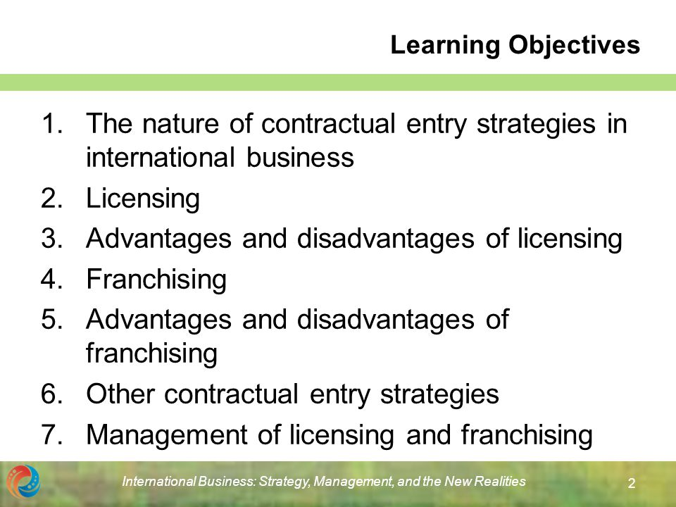 licensing and franchising in international business