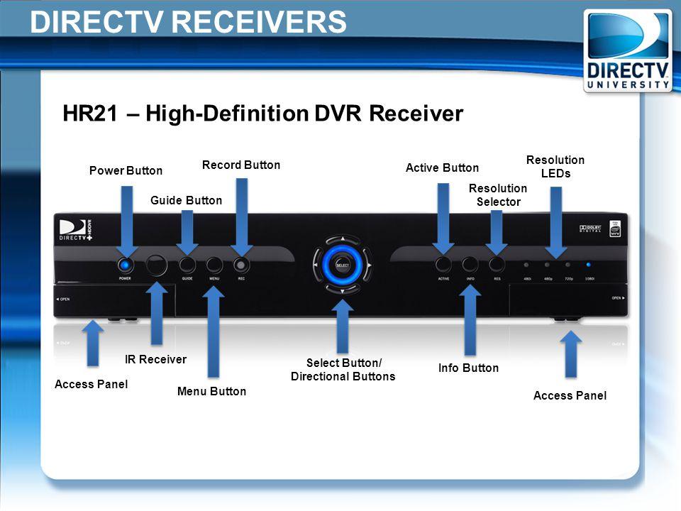 DIRECTV+RECEIVERS+HR21+%E2%80%93+High Definition+DVR+Receiver+Resolution directv receivers field operations training ppt video online download