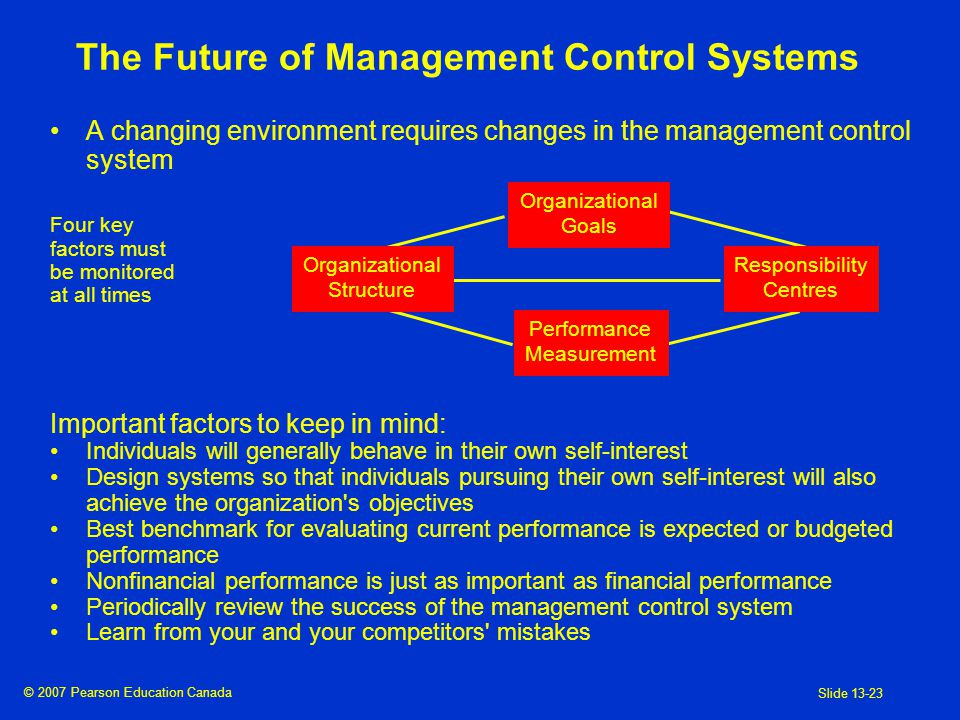 13 Management Control Systems The Balanced Scorecard And Responsibility Accounting Ppt Video Online Download