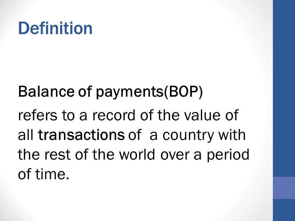 explain balance of payments