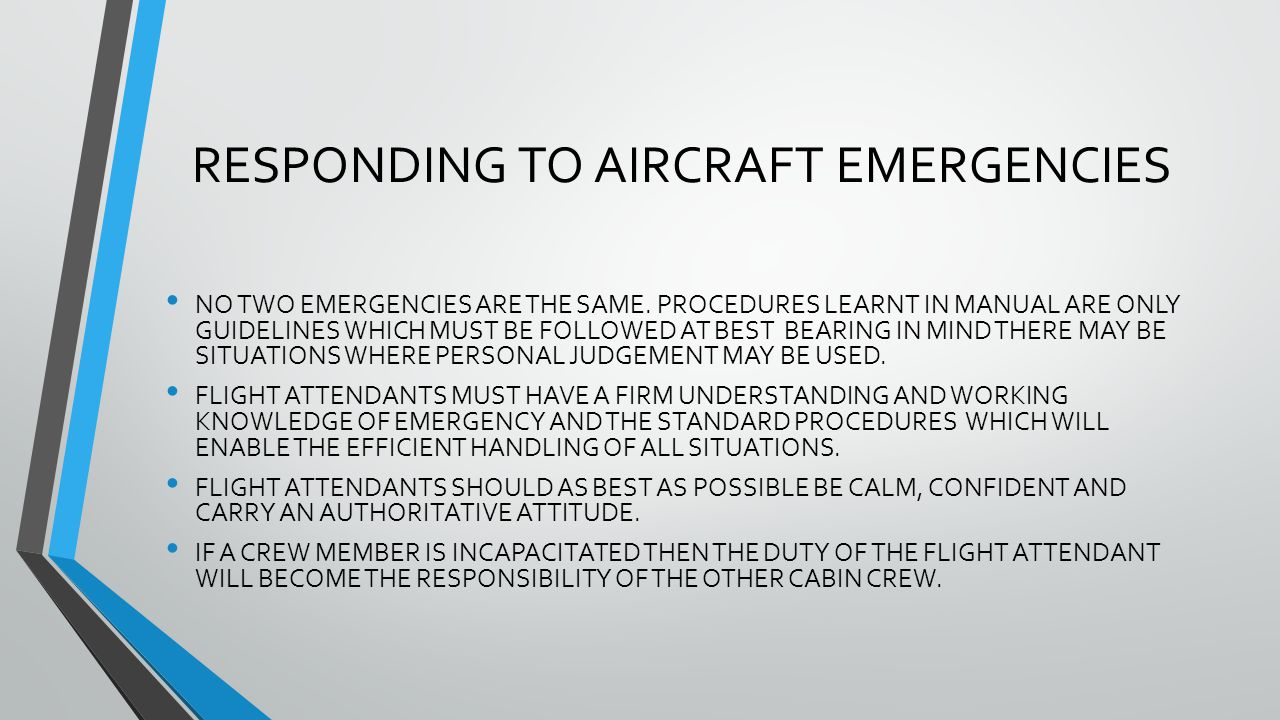 4 RESPONDING TO AIRCRAFT EMERGENCIES
