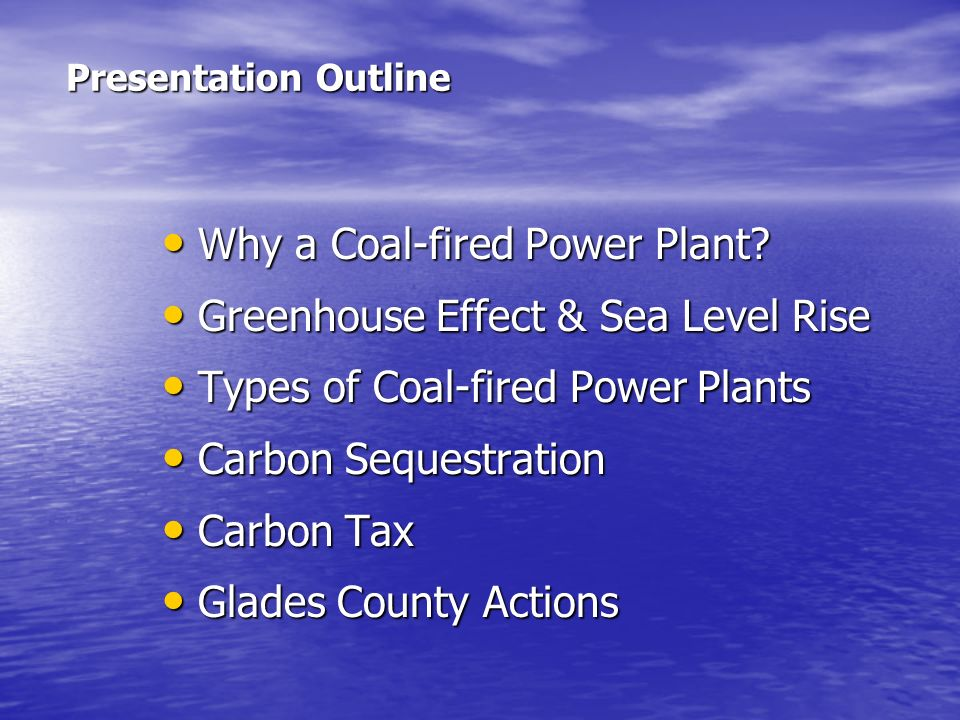 Why a Coal-fired Power Plant Greenhouse Effect & Sea Level Rise
