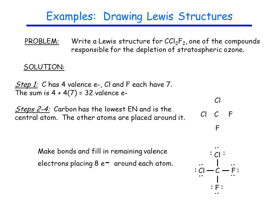 Guidelines drawing lewis structures ppt video online download examples drawing lewis structures ccuart Choice Image