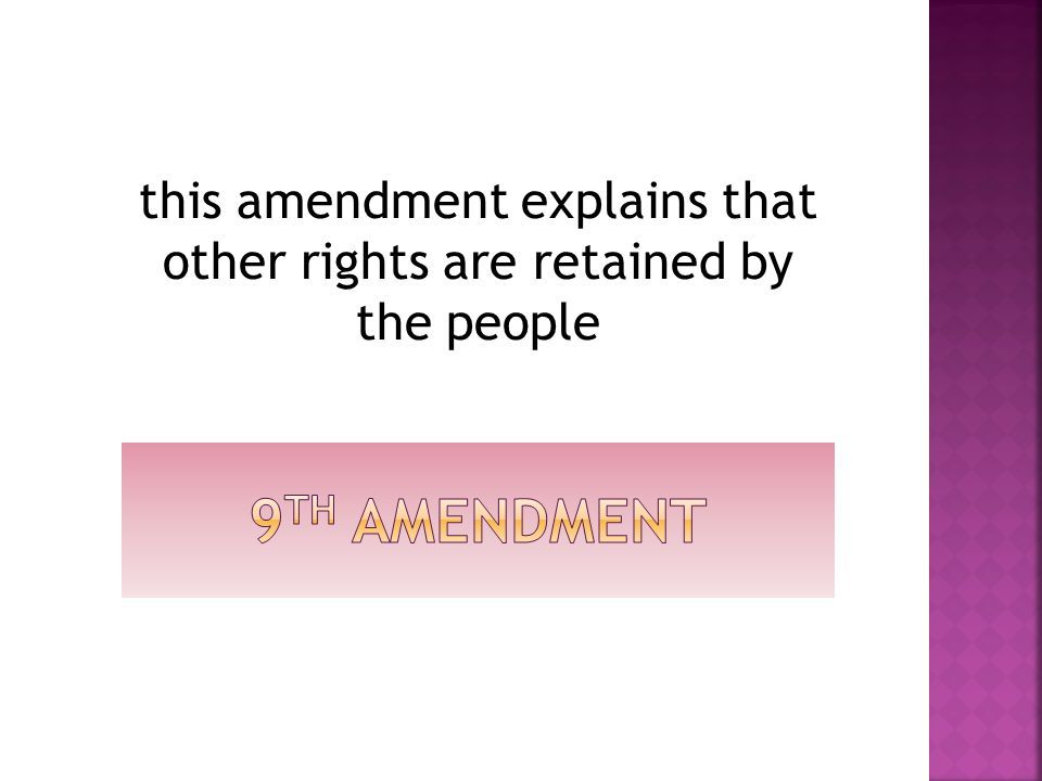 this amendment explains that other rights are retained by the people