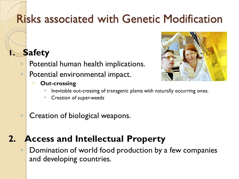 Risks associated with Genetic Modification
