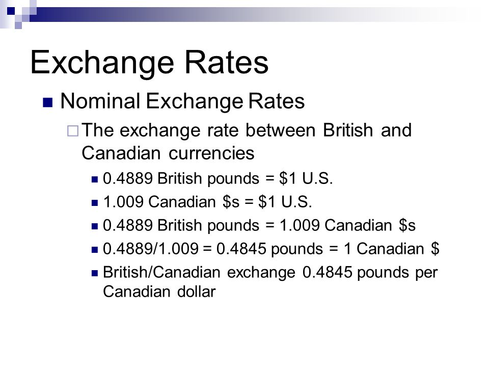 Lecture Exchange Rates Ppt