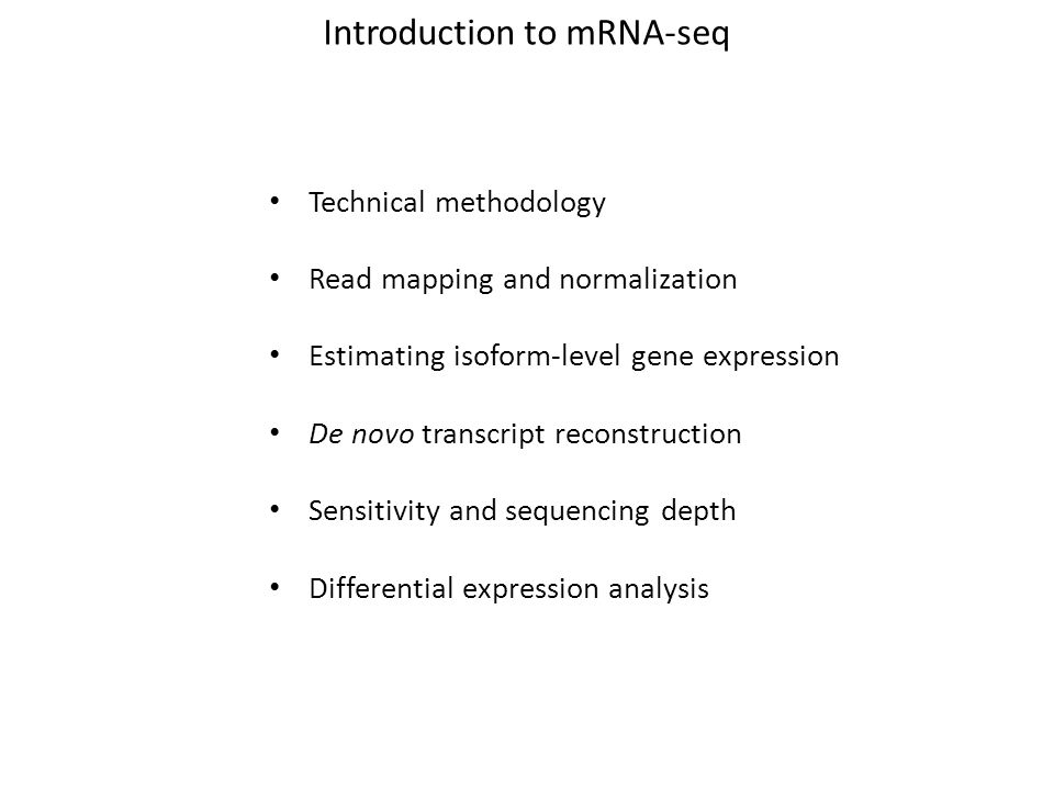 Introduction to mRNA-seq