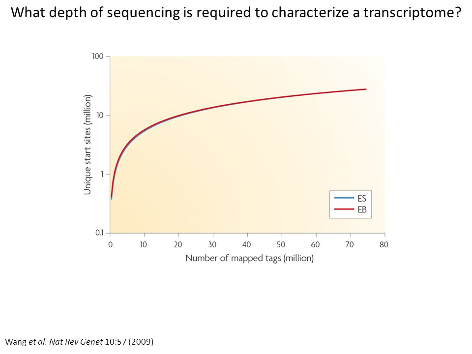 What depth of sequencing is required to characterize a transcriptome