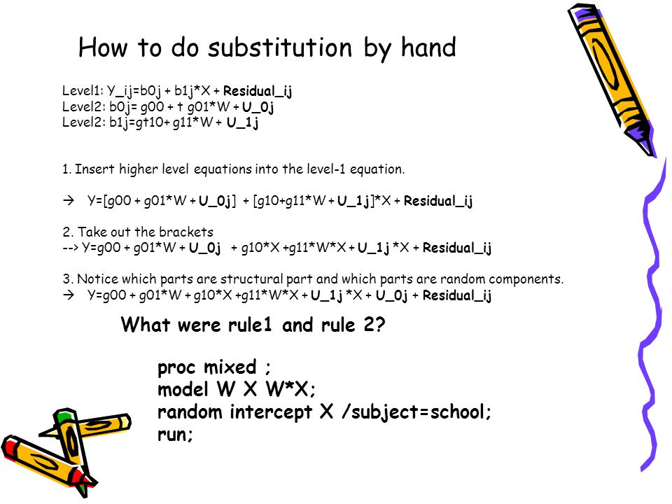 How to do substitution by hand