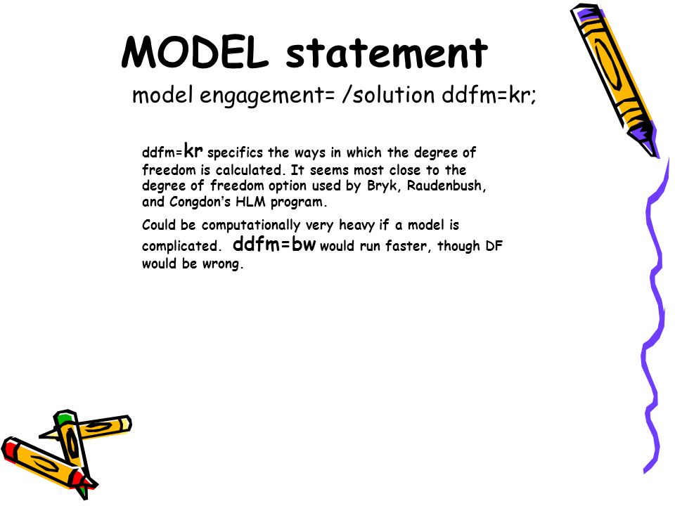 model engagement= /solution ddfm=kr;
