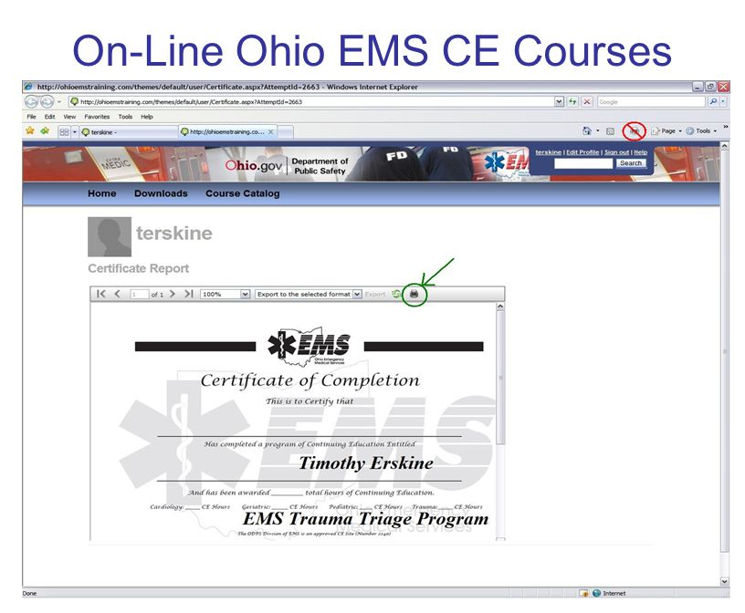 Ems Ce Update Session For Emergency Medical And Fire Services