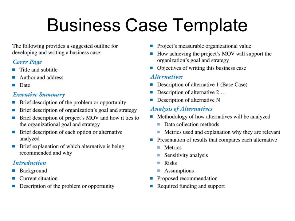 Information technology project management ppt video online download 37 business case template fbccfo Choice Image