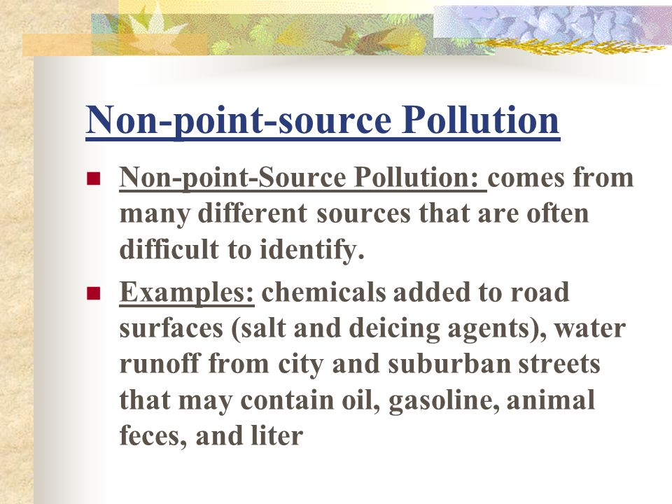 Non-point-source Pollution