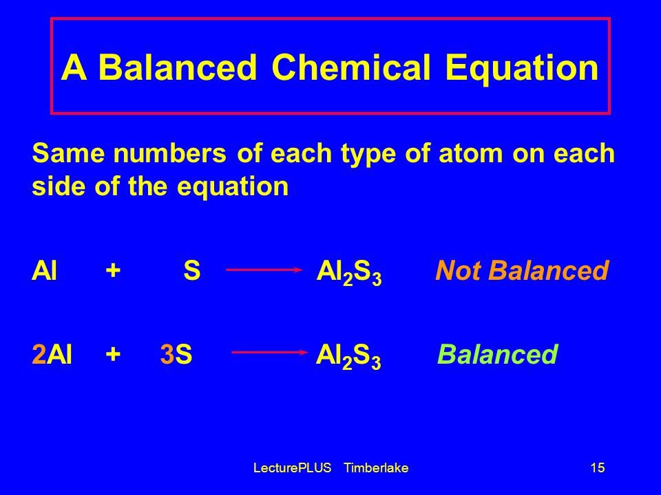 A Balanced Chemical Equation