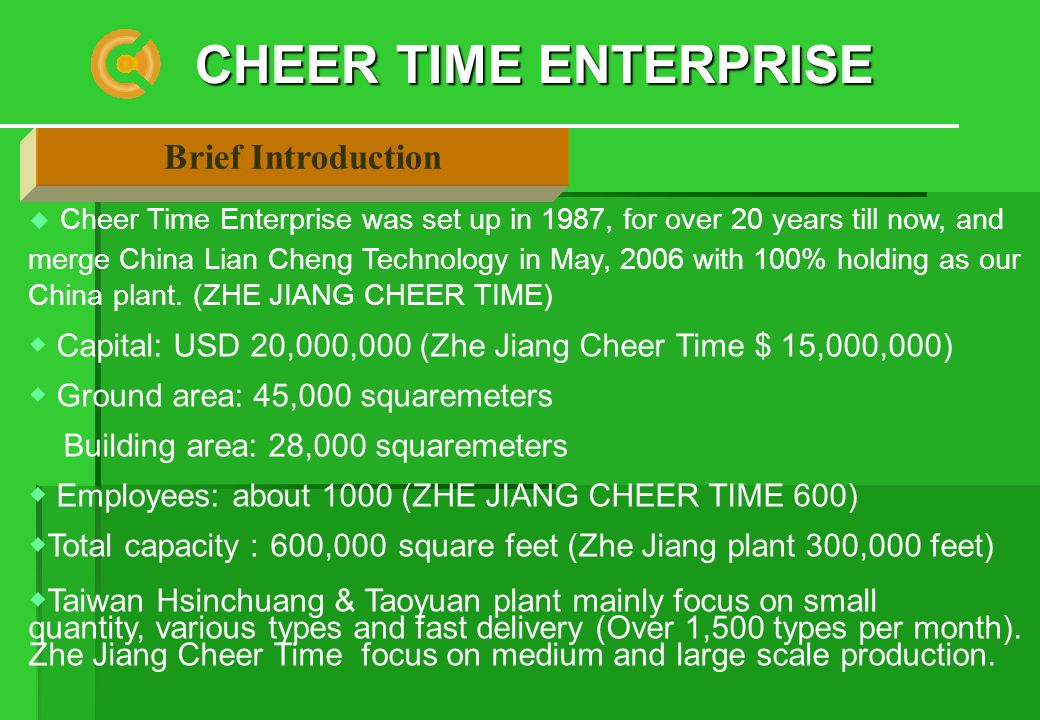 Cheer Time Enterprise Taiwan Ipo Listed No 3229 Ppt Video