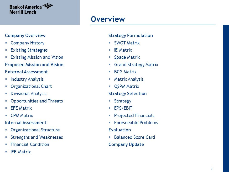 wells fargo competitive profile matrix