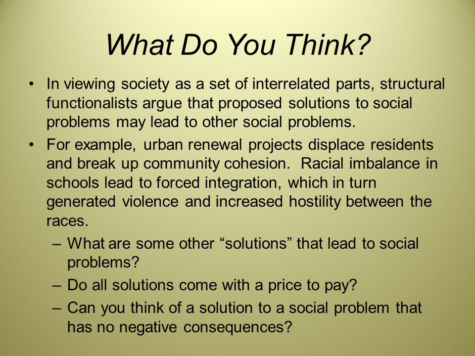 examples of social problems in communities