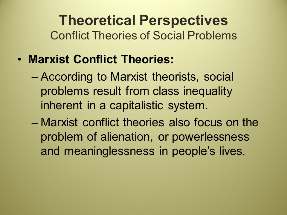 famous conflict theorists
