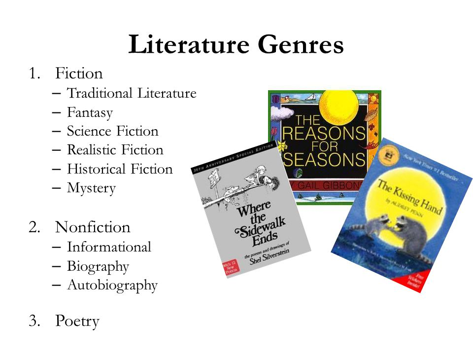 Literature Genres Fiction Nonfiction Poetry Traditional Literature