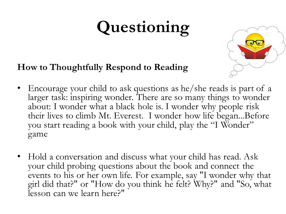 Questioning How to Thoughtfully Respond to Reading