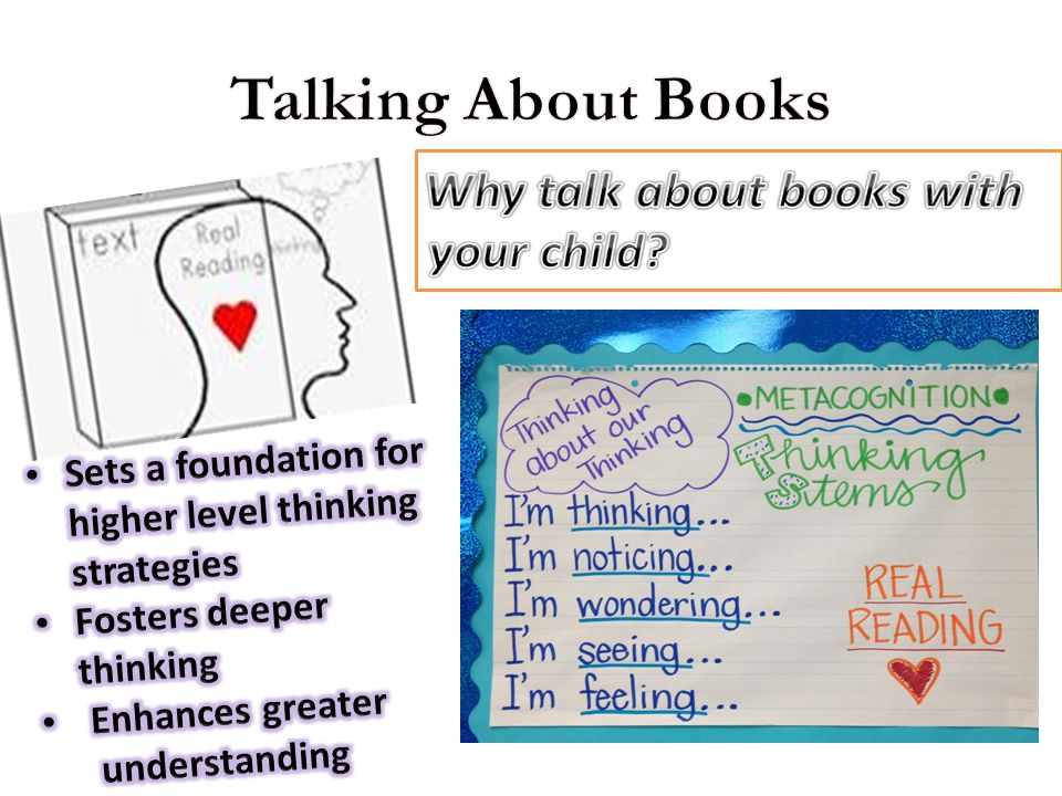 Talking About Books Why talk about books with your child