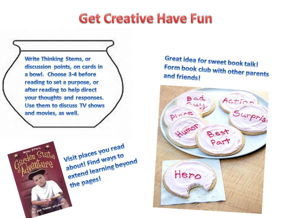 Get Creative Have Fun Great idea for sweet book talk!