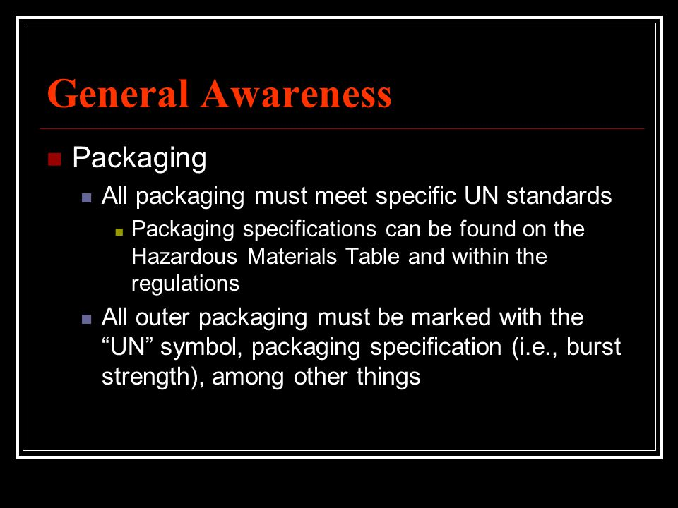 General Awareness Packaging