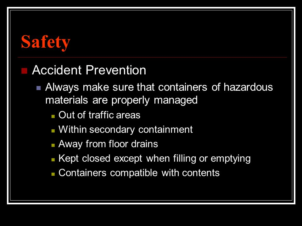 Safety Accident Prevention