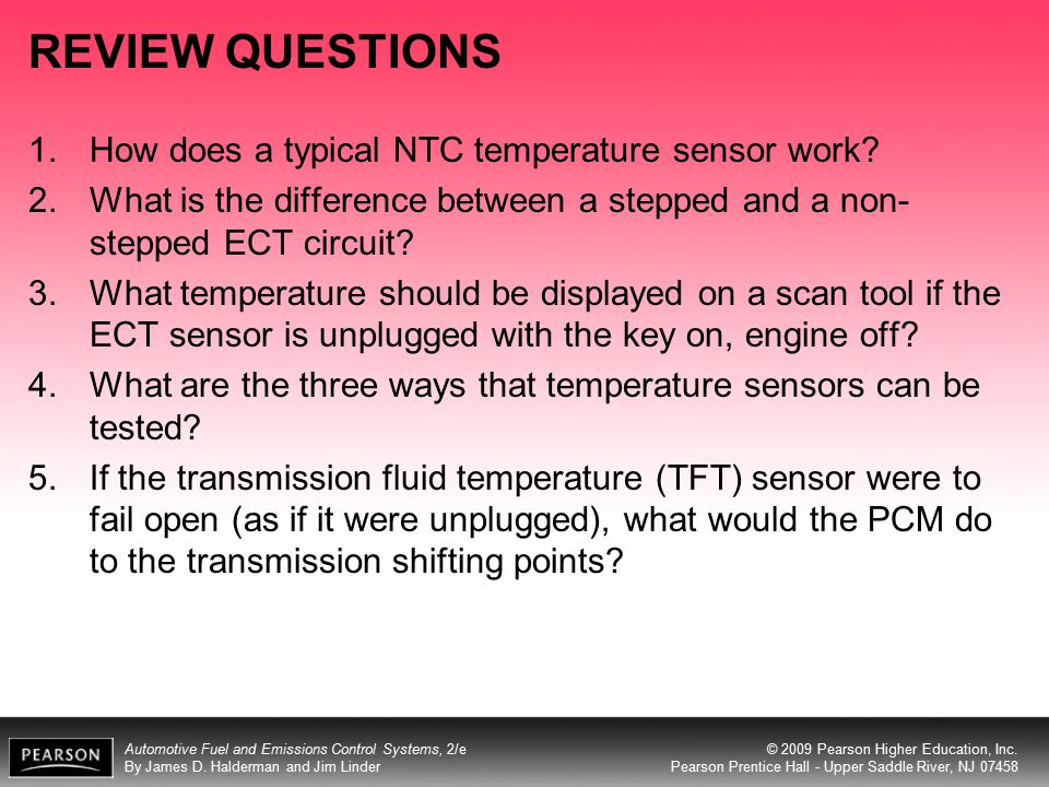 REVIEW QUESTIONS How does a typical NTC temperature sensor work