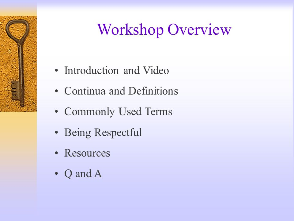 Workshop Overview Introduction and Video Continua and Definitions