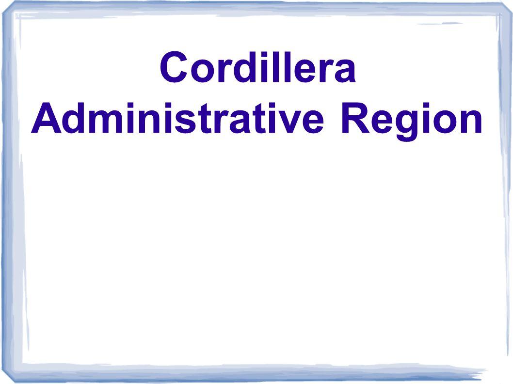 Cordillera Administrative Region - ppt download