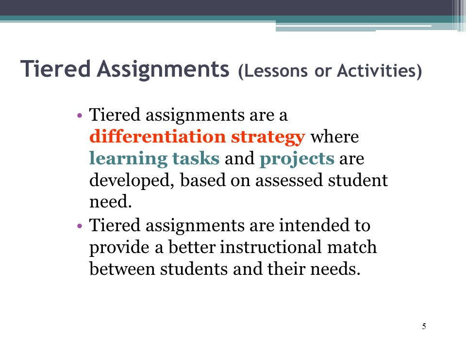 Tiered Lessons And Assignments Ppt Video Online Download