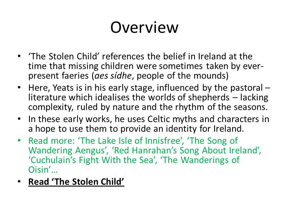 the stolen child analysis