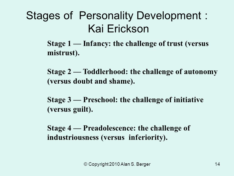 stages of personality development pdf
