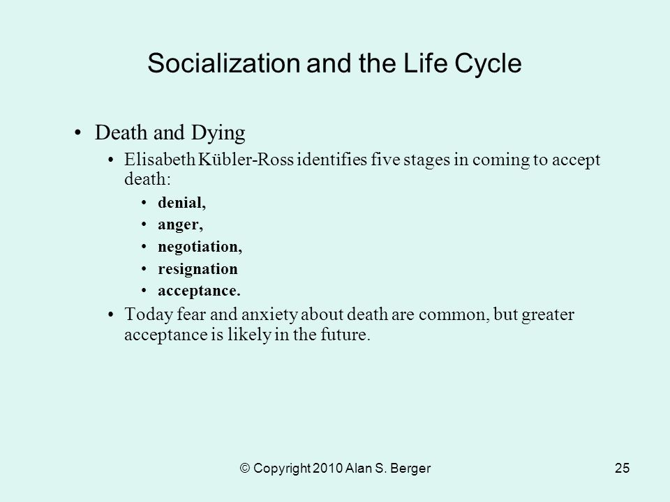 stages in socialization process
