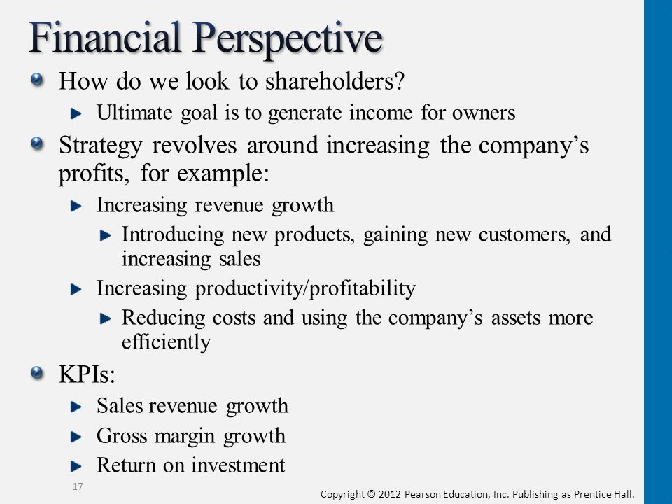 financial perspective kpi