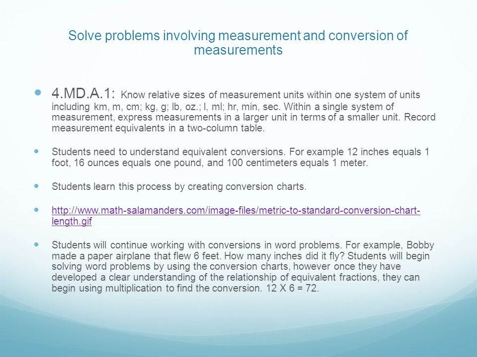 4th Grade Measurement And Data Standards Ppt Download