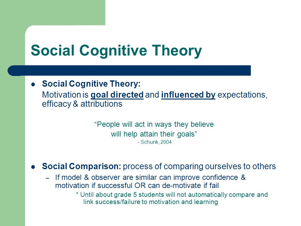 what is cognitive theory of motivation