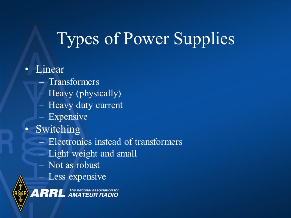 Types of Power Supplies