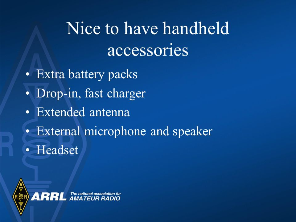 Nice to have handheld accessories