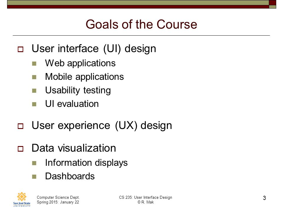 Cs 235 User Interface Design January 22 Class Meeting Ppt Download