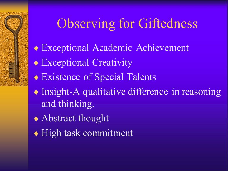 Observing for Giftedness